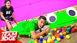 GIANT Hungry Hungry Hippos Challenge!!