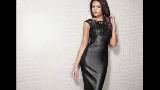Michelle Keegan Shows off Her Leather Dress and Mini SKirt