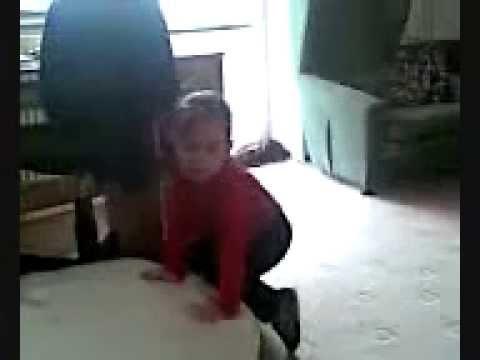 Baby bites sister