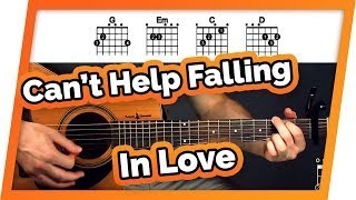 Can't Help Falling In Love With You Guitar Tutorial (Lesson) For Beginners - Elvis