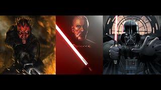 Versus Series Darth Maul (TCW) VS Count Dooku/Darth Tyranus VS Darth Vader