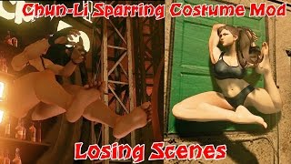 Chun-Li sparring Mod losing scenes! | Chun-Li barefoot Mod | Street Fighter V barefoot losing scenes
