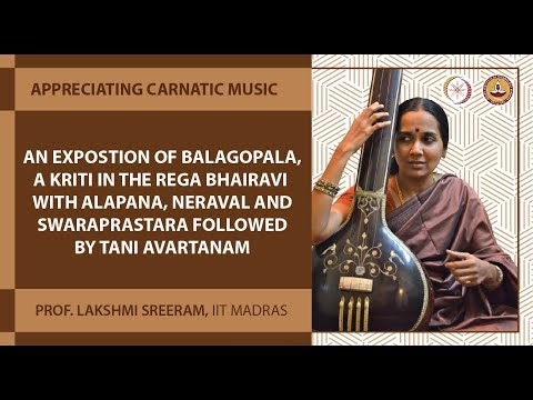 Lec 62 - An expostion of Balagopala,a kriti in the rega Bhairavi with alapana