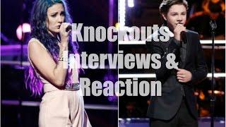 Braiden Sunshine vs. Ellie Lawrence The Voice Season 9 Knockouts Interviews & Reaction