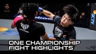 ONE Kings of Courage Highlights: Xiong Jing Nan Blasts Her Way to Strawweight Title