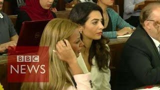 Al-Jazeera trial: Amal Clooney urges pardon for journalists - BBC News