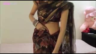 How To Drape Net Saree:Bollywood Sari Wearing(Khulla Palla Indian Saari)