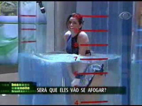 Aline Coutt Bikini Sex Prova do Tubo TV Show Brazillian
