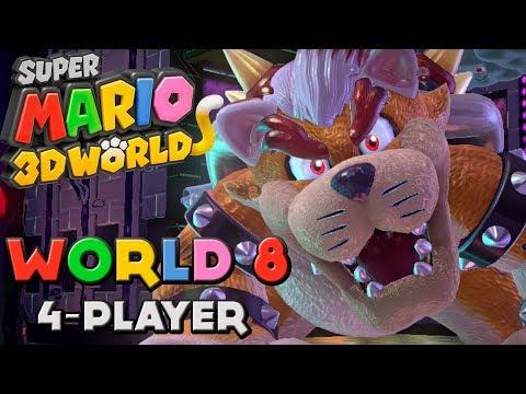 Super Mario 3D World World 8 4 Player