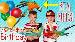 Birthday Party Time!! TWINS Best-Ever Pirate & Parrots Party Games Cake Fun
