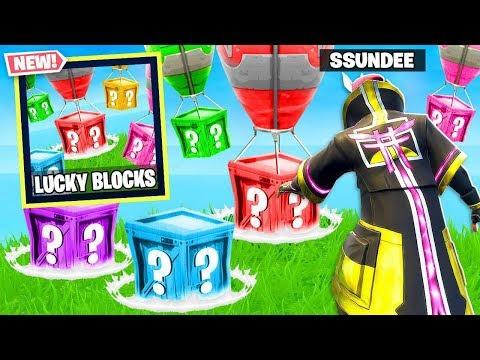 LUCKY BLOCKS NEW GAME MODE in Fortnite Battle Royale