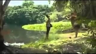 Horror crocodile nude girl