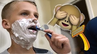 Chad's Hilarious FIRST SHAVE