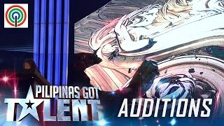 Pilipinas Got Talent Season 5   Auditions: Percy Denolo - Mud Shadow Art Performer