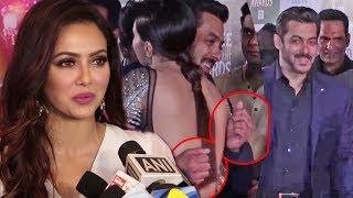 Sana Khan SHOCKING REACTS On Salman Khan Hug At Big Zee Entertainment Awards 2017