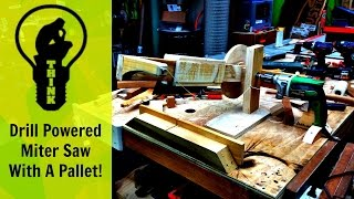 I Built A Miter Saw With A Drill And A Pallet!