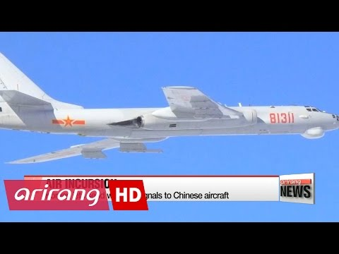 watch Chinese military planes enter Korean and Japanese air defense zones