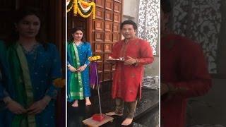 Sachin Tendulkar celebrates Gudi Padwa at home with wife Anjali
