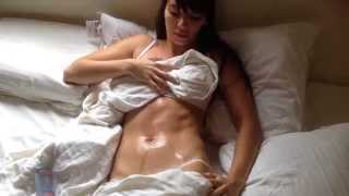 oily sexy belly button (navel play)