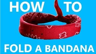 How To Fold/Tie a Bandana the REAL way!