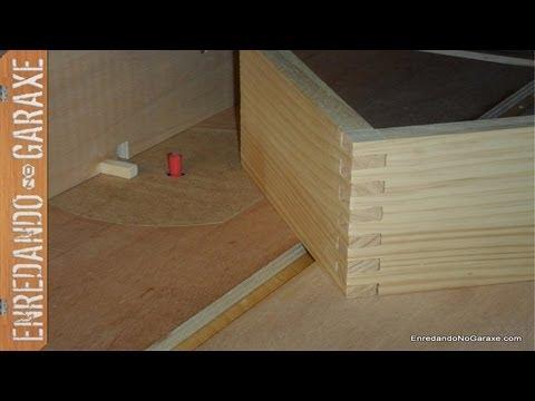 Guía para cortar uniones tipo dedo o lazos para cajas. Finger joint jig box joint jig