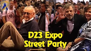 Mark Hamill and Stan Lee in the D23 Expo Street Party