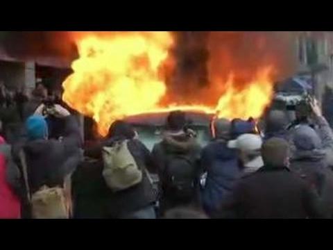 Some anti-Trump demonstrators cause destruction