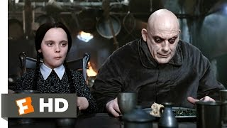 The Addams Family (3/10) Movie CLIP - Dinner Conversation (1991) HD