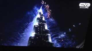 Dubai Fireworks 2014 HD 3D | Burj Khalifa - UAE | New Year's Eve Midnight Fireworks on Dubai TV