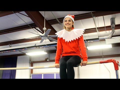 Gymnast on the Shelf Elf on the Shelf Parody