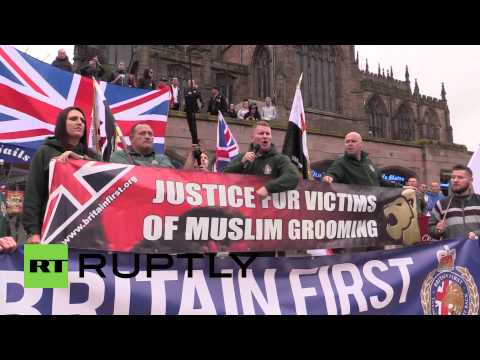 Xxx Mp4 UK Watch Hundreds Protest Muslim Grooming Gangs In Yorkshire 3gp Sex
