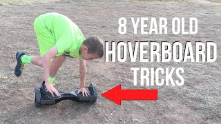 8 YEAR OLD DOES TRICKS ON A HOVERBOARD! (Swegway)