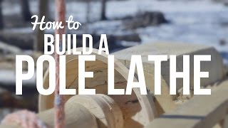 How to build a spring pole lathe. Step-by-step to build a timber frame style lathe.