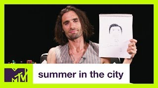 Tyson Ritter of The All American Rejects Draws Himself | #TALK2ME | Summer in the City