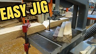 Super Easy Band Saw Jig For Lathe Work!
