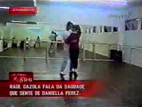 Daniela Perez e Raul Gazolla dançam tango Daniella Perez