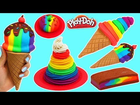 Xxx Mp4 Play Doh Rainbow Swirl Ice Cream Sandwich Donut Amp More Desserts 3gp Sex