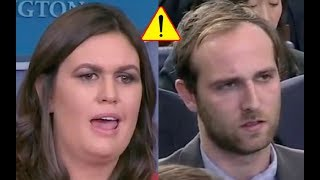 Troublemaking Reporter Gets Shut Down by Sarah Sanders Once Again! 11/20/17