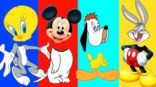 Wrong Heads Bab baby Mickey Droopy Bug Bunny Tweefy - Crying baby finger family nursery rhymes