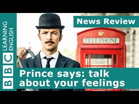 BBC News Review Prince says talk about your feelings