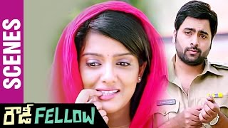 Rowdy Fellow Telugu Movie Scenes | Nara Rohit Funny Warning to Vishakha Singh | Rao Ramesh
