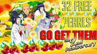 32 FREE PEARLS FOR GLOBAL!! GO GET THEM!!! | Naruto Ultimate Ninja Blazing