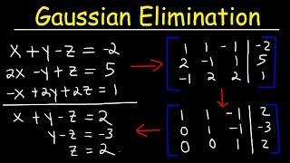 Gaussian Elimination & Row Echelon Form