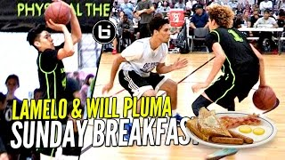 LaMelo Ball & Will Pluma SERVING Sunday Morning Breakfast!! 😂😂 Big Ballers Go 4-0!!