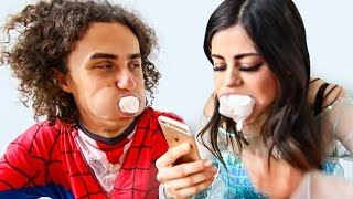 TRY NOT TO LAUGH CHUBBY BUNNY CHALLENGE!