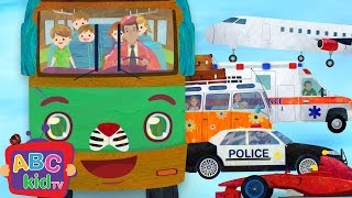 Wheels on the Bus and Vehicles 2| Nursery Rhymes & Kids Songs - ABCkidTV