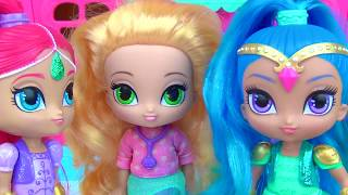 SHIMMER AND SHINE Genies Cookies Magical Play-doh Microwave, Leah Gumball Candies Toy Surprises TUYC