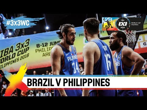 Philippines dominate Brazil in opening game Full Game FIBA 3x3 World Cup 2018