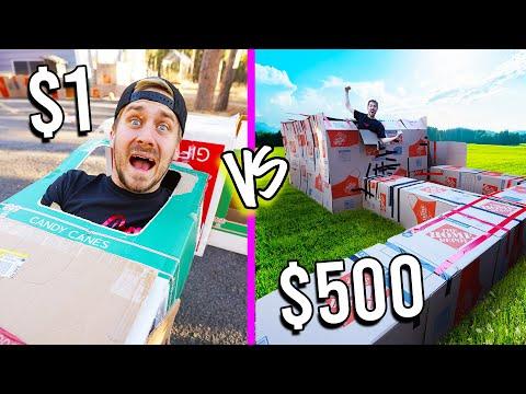1 VS 500 BOX FORTS Budget Challenge