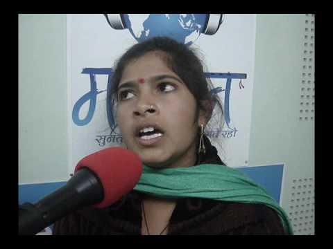 Babli Kumari  - MGAA - Third Round Sanskriti Section -22 -01-17- Maar Geet Adivasiyori Awaz
